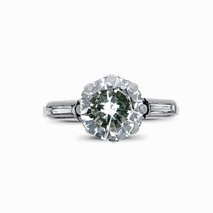 Edwardian/Transitional Cut 1.16ct Diamond Ring